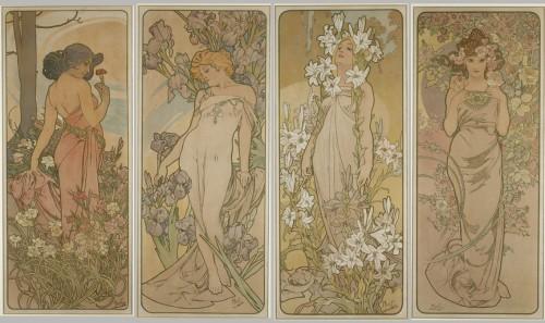 Flowers - Alphonse Mucha (1860-1939)