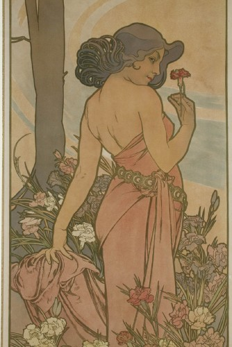 Engravings & Prints  - Flowers - Alphonse Mucha (1860-1939)