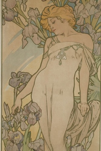 19th century - Flowers - Alphonse Mucha (1860-1939)