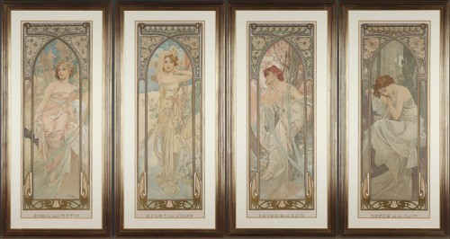 The Times of Day - Alphonse Mucha (1860-1939)