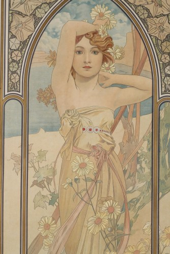 19th century - The Times of Day - Alphonse Mucha (1860-1939)