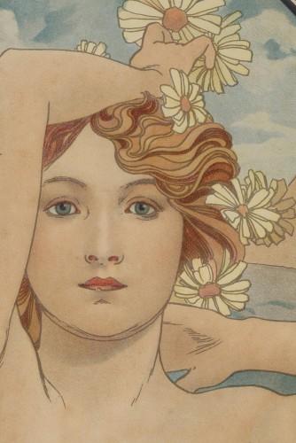 The Times of Day - Alphonse Mucha (1860-1939) - Art nouveau