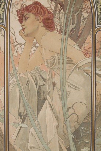 Art nouveau - The Times of Day - Alphonse Mucha (1860-1939)