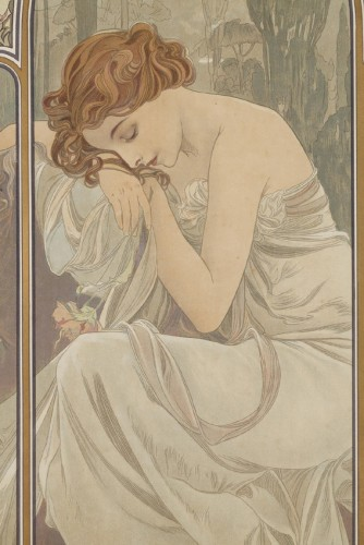 Antiquités - The Times of Day - Alphonse Mucha (1860-1939)