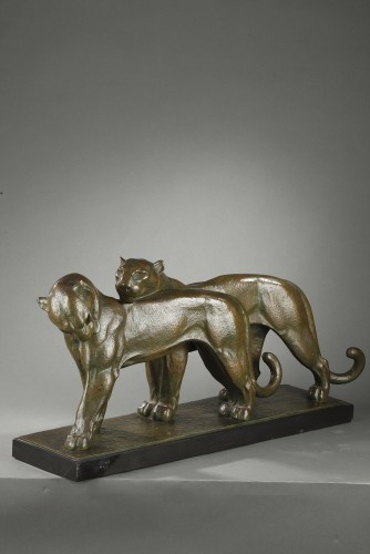 Two Panthers - André-vincent Becquerel (1893-1981)