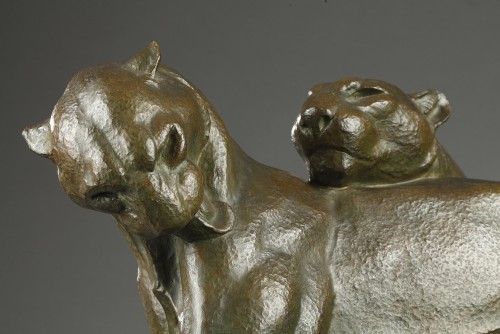 Art Déco - Two Panthers - André-vincent Becquerel (1893-1981)
