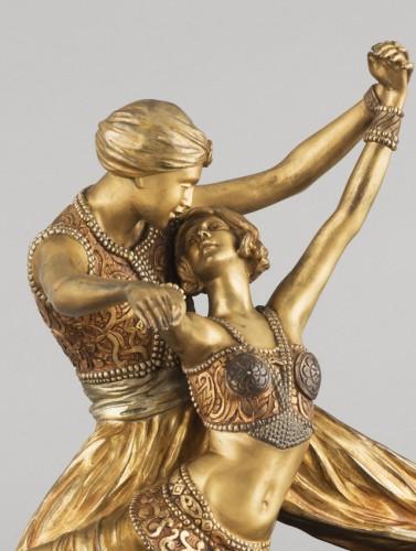 Oriental Dancers - Claire-Jeanne-Roberte COLINET (1880-1950) - Sculpture Style Art Déco