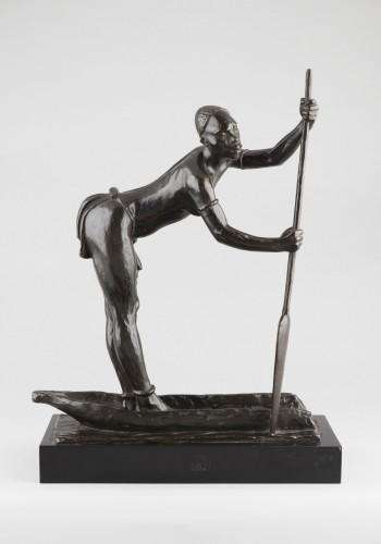 Woman with a pirogue - Arthur Dupagne (1895-1961 ) - Art Déco