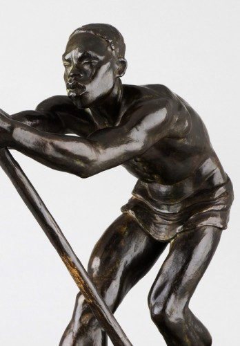 Man with a pirogue - Arthur Dupagne (1895-1961 ) -