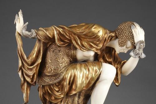Ankara Dancer - Claire-Jeanne-Roberte COLINET (1880-1950) - Sculpture Style Art Déco