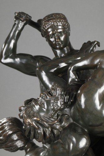 Sculpture  -  Theseus fighting the centaur Bienor - Antoine-Louis BARYE (1796-1875)
