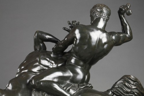 Napoléon III -  Theseus fighting the centaur Bienor - Antoine-Louis BARYE (1796-1875)