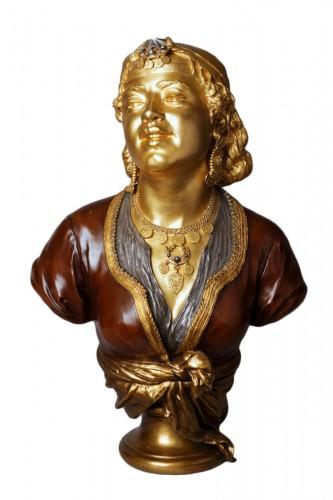 Bust of an Oriental Woman - Emile GUILLEMIN (1841-1907)