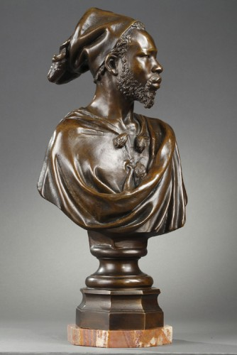 Sculpture  - The Nubian - CORDIER Charles (1827-1905)