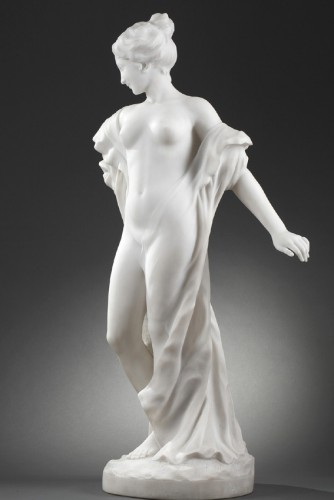After the bath - Edouard FORTINI (né en 1862) - Sculpture Style Art nouveau