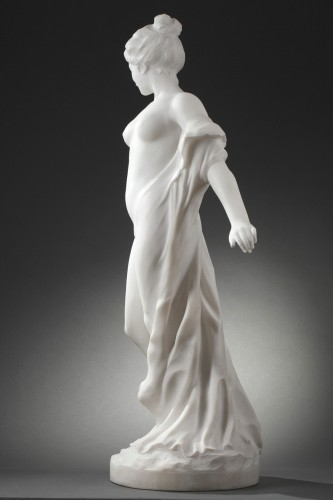 Sculpture  - After the bath - Edouard FORTINI (né en 1862)