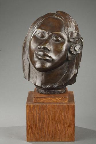 Tahitian head - Paul GAUGUIN (1848-1903) - Sculpture Style