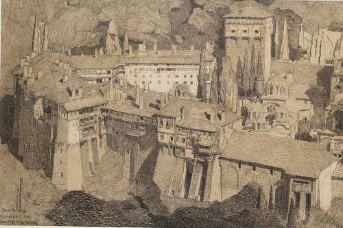 Paintings & Drawings  - Mont Athos - Paul JOUVE (1878-1973)