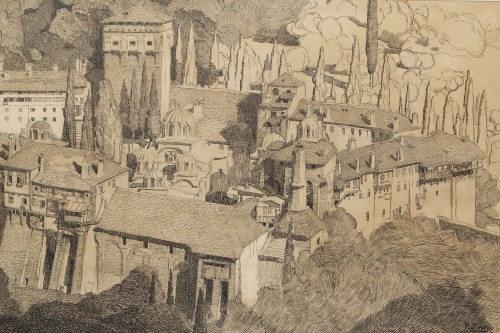 Mont Athos - Paul JOUVE (1878-1973) -