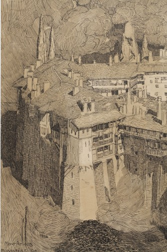 20th century - Mont Athos - Paul JOUVE (1878-1973)