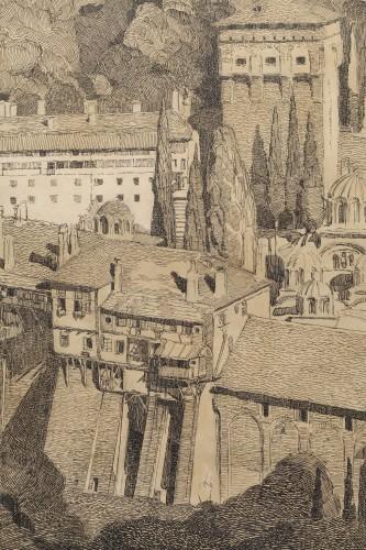 Mont Athos - Paul JOUVE (1878-1973) - Art Déco