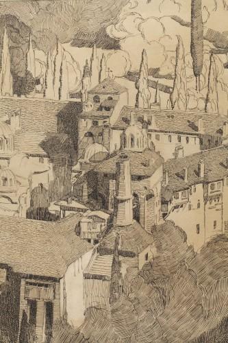 Art Déco - Mont Athos - Paul JOUVE (1878-1973)