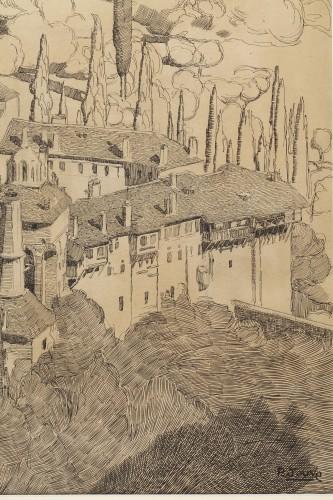 Antiquités - Mont Athos - Paul JOUVE (1878-1973)