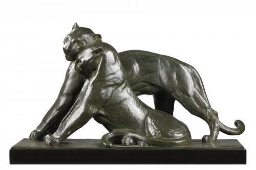 Two panthers - André-Vincent BECQUEREL (1893-1983)