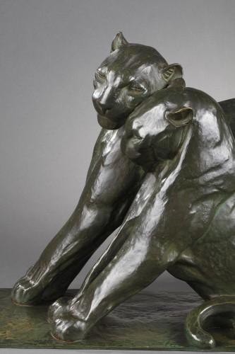 Two panthers - André-Vincent BECQUEREL (1893-1983) -
