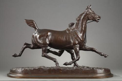Horse training with its stable lad - Arthur COMTE DU PASSAGE (1838-1909) - Napoléon III