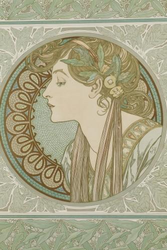 Laurel - Alphonse Mucha (1860-1939) - Engravings & Prints Style Art nouveau