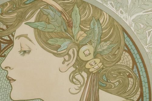Engravings & Prints  - Laurel - Alphonse Mucha (1860-1939)