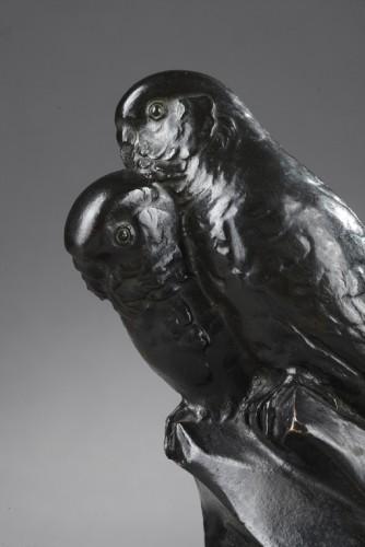 Sculpture  - Two Parakeets - Edouard-marcel Sandoz (1881-1971)