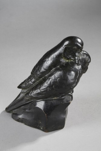 20th century - Two Parakeets - Edouard-marcel Sandoz (1881-1971)