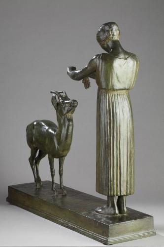 Woman and Gazelle - Henri BOUCHARD (1875-1960) -
