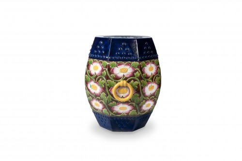 Porcelain & Faience  - Minton, Majolica Garden Stool