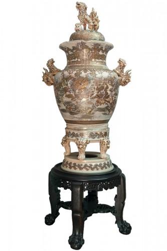 Monumental Satsuma Vase