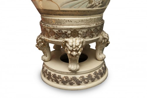 Porcelain & Faience  - Monumental Satsuma Vase