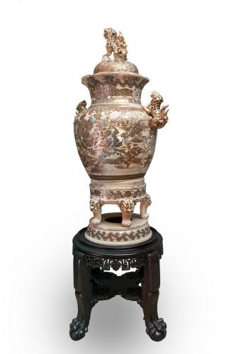 Monumental Satsuma Vase -