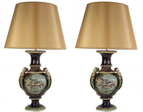 Thomas Victor Sergent, Vases montés en lampes