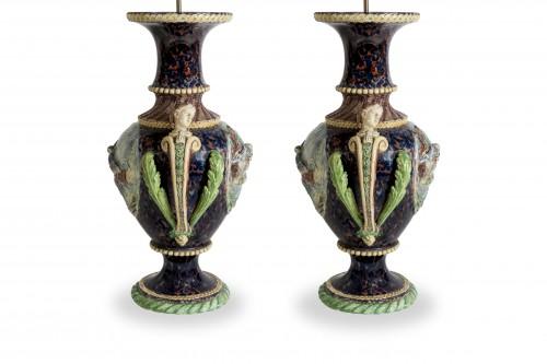 Thomas Victor Sergent, Vases montés en lampes -