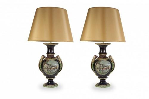 Antiquités - Thomas Victor Sergent, Vases montés en lampes