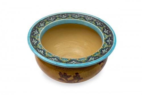 Porcelain & Faience  - Cachepot by Félix Optat Milet called Optat MILET (1838-1911) et Émile DIFFL