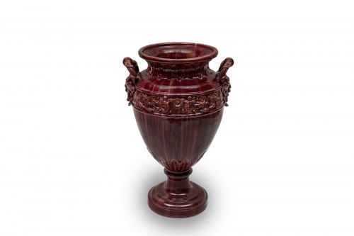 An Antique-inspired Red Vase by Clément Massier (1844 - 1917)  -