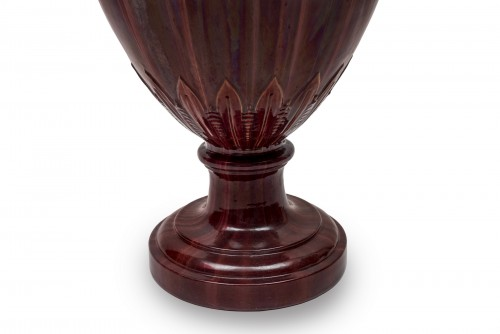 19th century - An Antique-inspired Red Vase by Clément Massier (1844 - 1917)