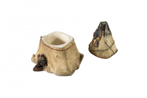 Curiosities  - Tobacco pot representing a tepee - Austria, end of the 19th century