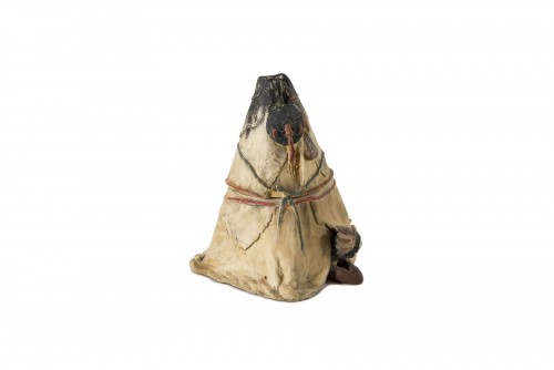 Tobacco pot representing a tepee - Austria, end of the 19th century -