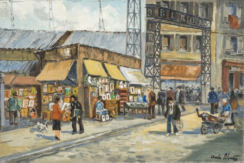 Table of Biron fleamarket entry - Charles Blondin - Paintings & Drawings Style