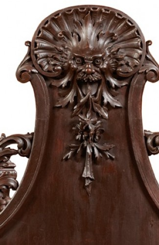 Pair of carved wooden planters - France, circa 1880 - Furniture Style Napoléon III