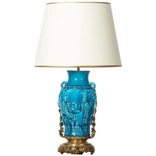 Ceramic lamp - Longwy, late 19th century